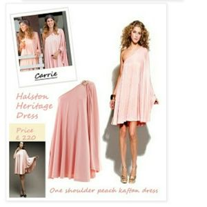 [Halston Herritage] Blush one shoulder dress 0